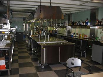 De professionele keuken van de CCA