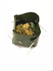 Palem Kakul – Garnalen en Slakken in bananenblad