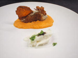 Mozzarellawafel met truffel en zoete aardappel