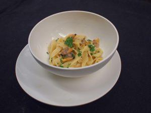 Linguini met kokkels