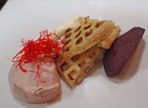 Brusselse wafel met crème Suisse