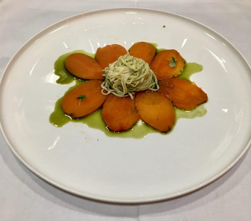 Tomatencarpaccio met tagliolini