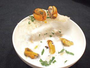 Mosselsoep met groene curry